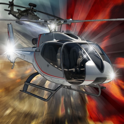 A Flames In Propeller Copter - A Helicopter Hypnotic X-treme Game