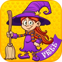 Cute Witches Kids Puzzle Game