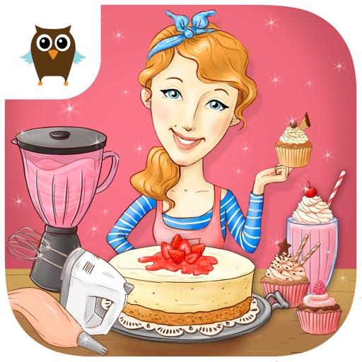 Miss Pastry Chef - Bake Cheese Cake, Cupcakes, Cookies and Mix Strawberry Milkshake