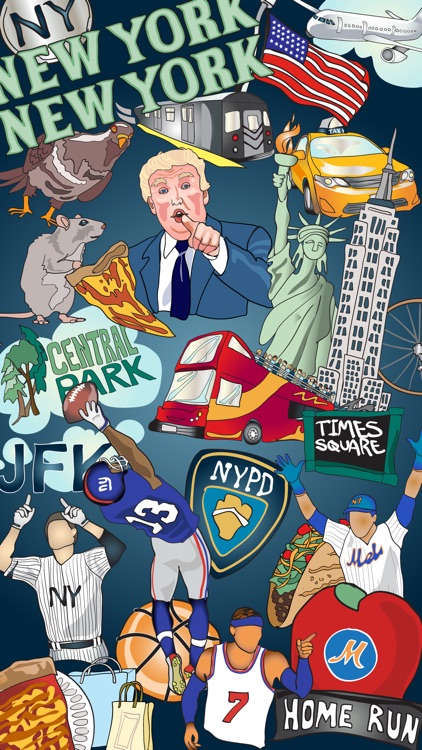 New York Sticker Set