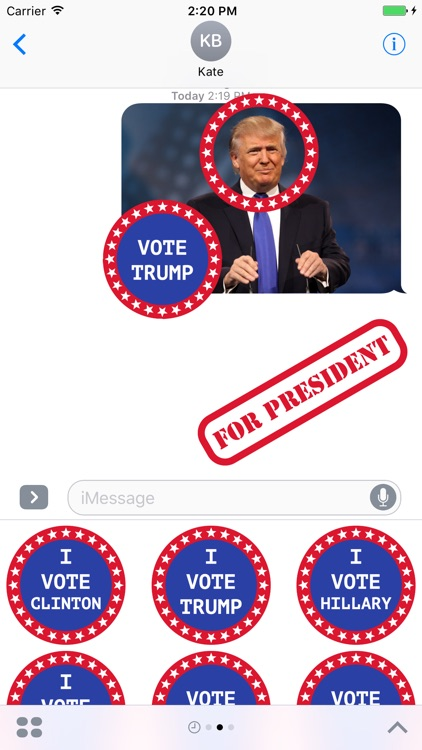 Election Stickers 2016