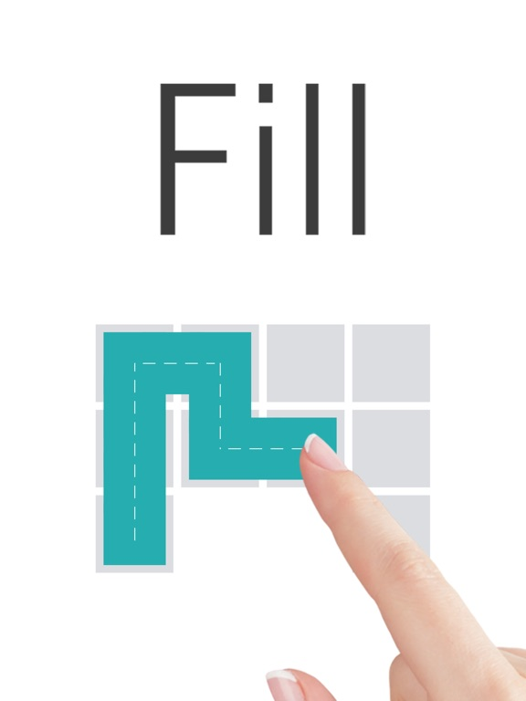 Fill one-line puzzle game на iPad