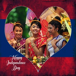 Laos Independence Day Photo Frames