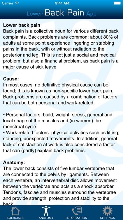 Lower Back Pain App screenshot-3