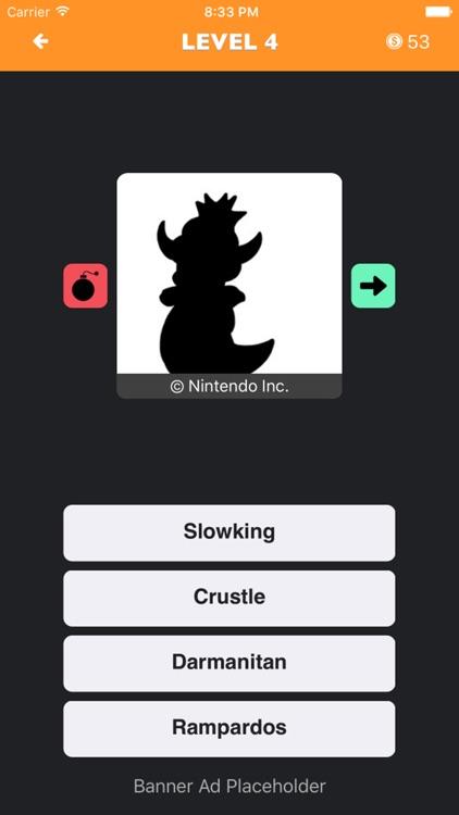PokeShadow - Monster Guess Quiz for Pokemon Fan