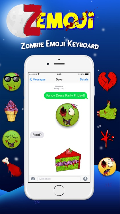 Zemoji Zombie Emoji - Halloween iMessage Stickers screenshot-3