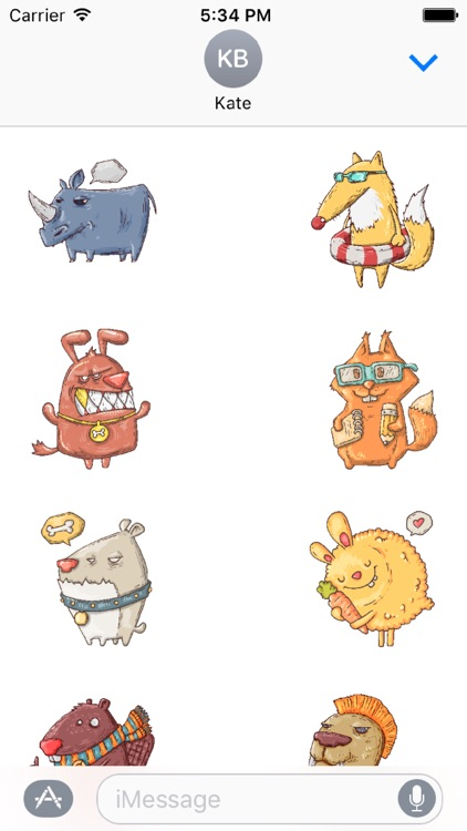Doodle Animal Stickers screenshot-2