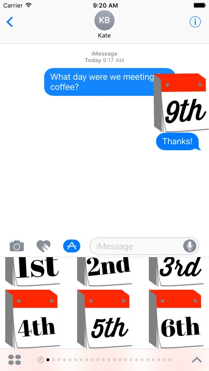 DayCals: Ordinal Perpetual Calendar Stickers screenshot-1