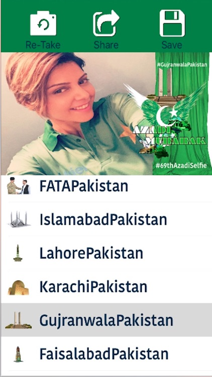69th Azadi Selfie Camera-Show Your Patriotism and Support Pakistan HD free cam screenshot-3