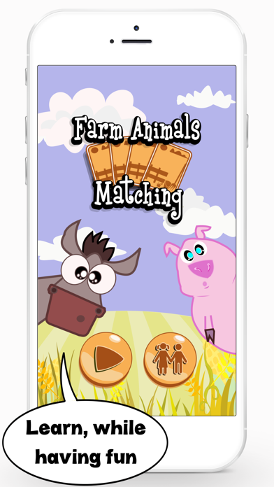 Farm Animals Matching Game – English Learning App