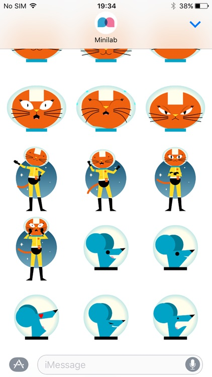 Astro Cat Stickers screenshot-4