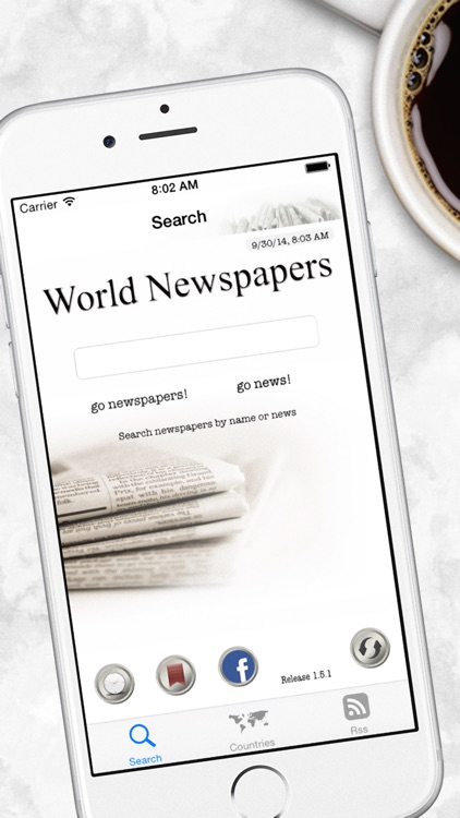 World Newspapers the News Search Engine screenshot-0