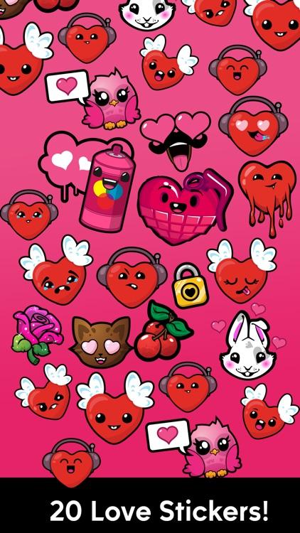 I Love U Stickers
