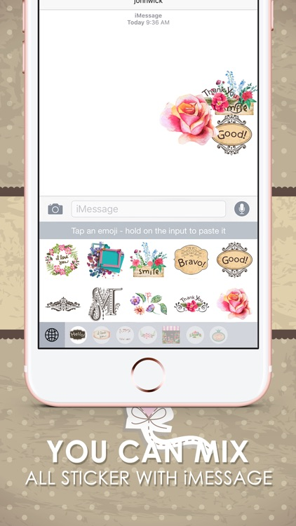 Vintage Emoji Stickers Keyboard Themes ChatStick