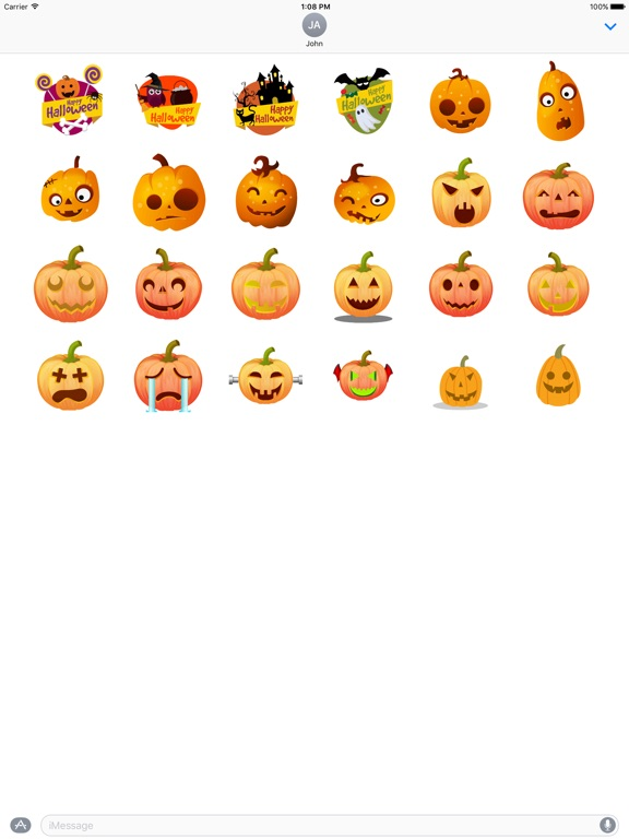 Screenshot #4 for Halloween Stickers - Animated iMessage Stickers