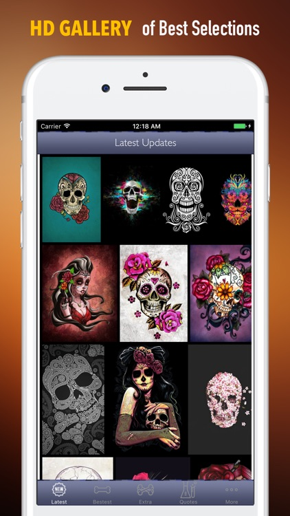 Sugar Skulls Wallpapers HD|Quotes,Art Pictures screenshot-0