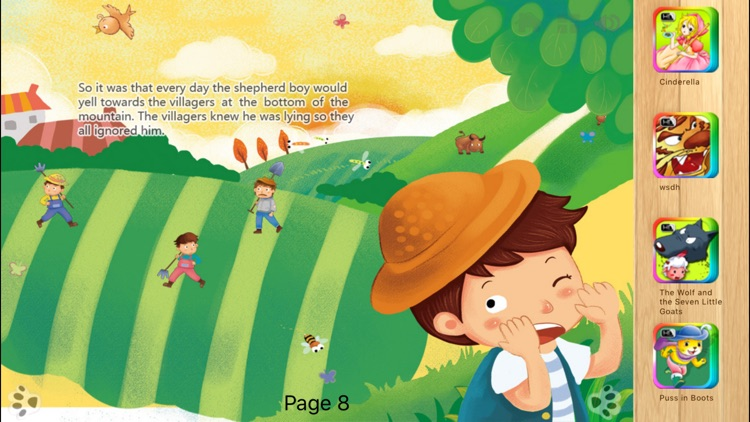 The Boy Who Cried Wolf Interactive book iBigToy screenshot-3