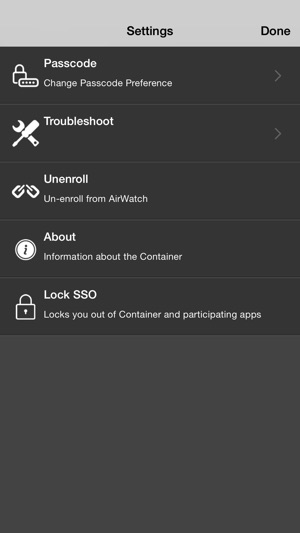 AirWatch Container on the App Store