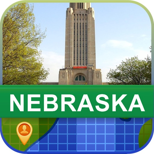 Offline Nebraska, USA Map - World Offline Maps