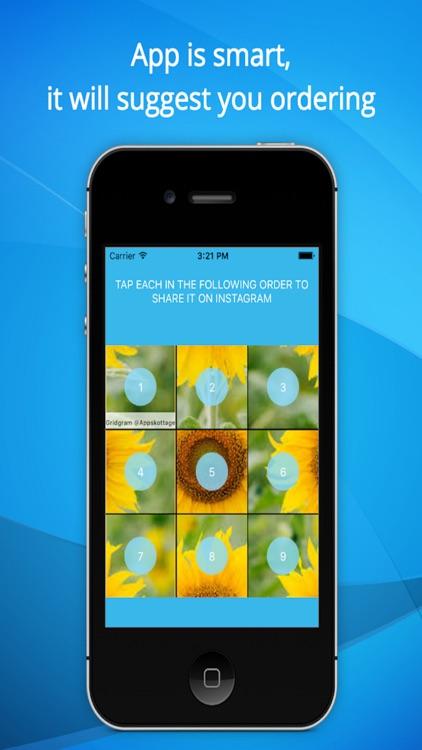 InstaGrid Grid on Photo for Instagram-Share ig Pic