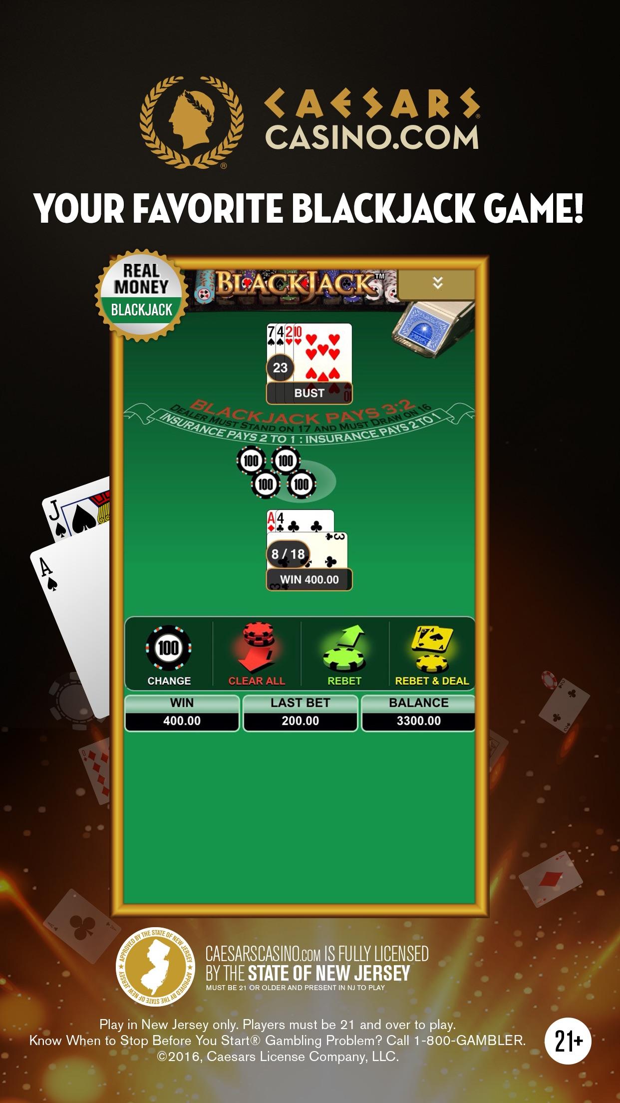 Caesars Online Casino NJ – Real Money Casino Games Screenshot