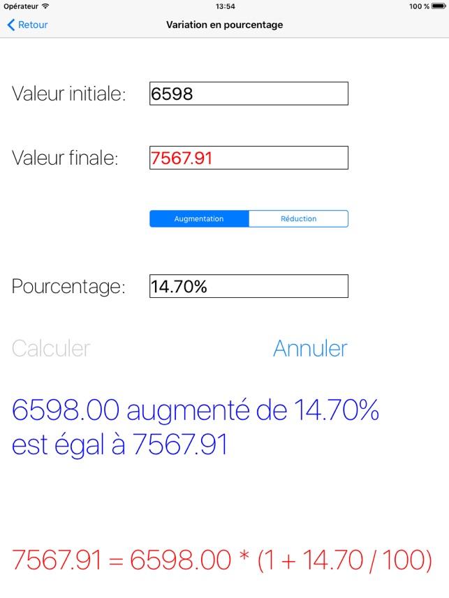 Pourcentages Montre Le Calcul