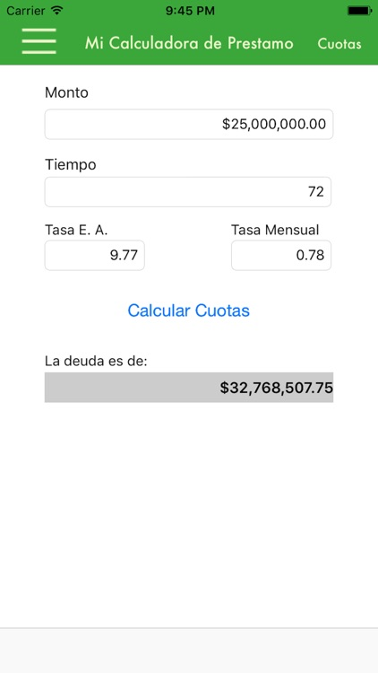 Mi Calculadora de Préstamo screenshot-2