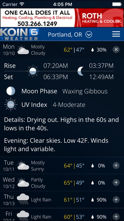 PDX Weather — Portland, Oregon radar & forecasts screenshot-3