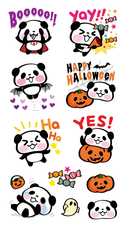 Pandaaa!!! Halloween Stickers screenshot-3