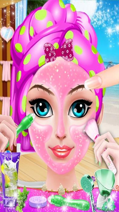 Crazy Girl Beach Party : Seaside Makeup Games screenshot two