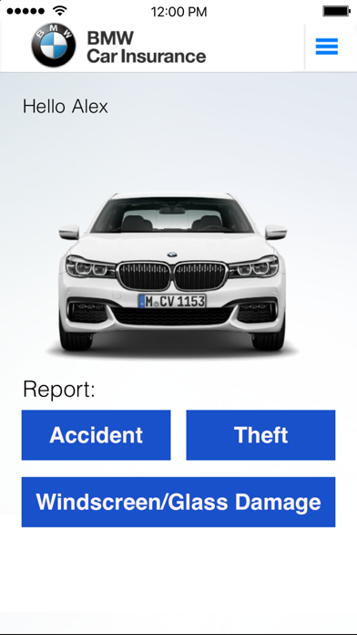 BMW Insurance screenshot one