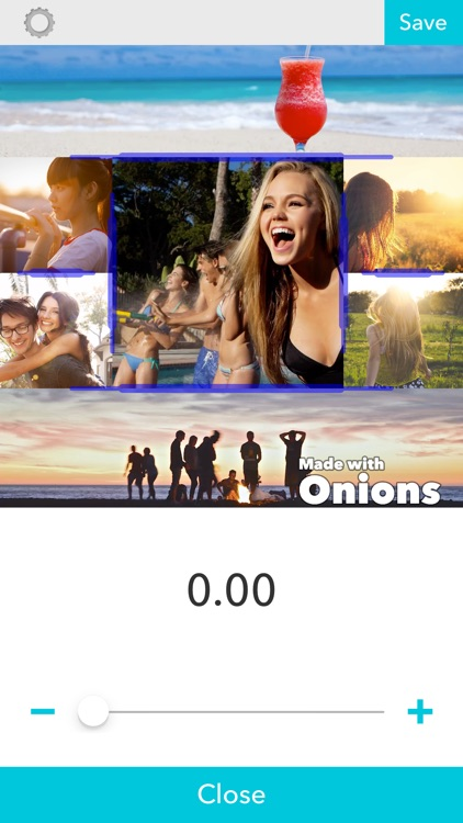 Layout video and photo collage - Onions
