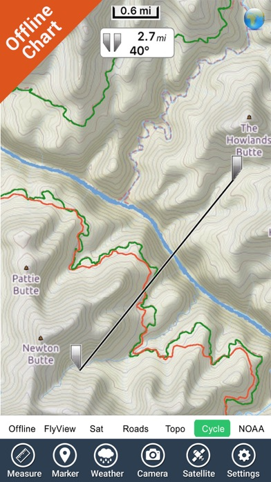 Grand Canyon National Park - GPS Map Navigator screenshot one