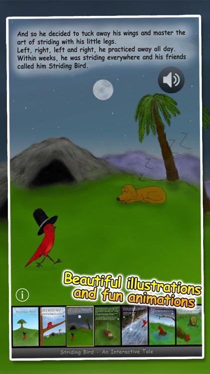 Striding Bird - An inspirational tale for kids screenshot-2