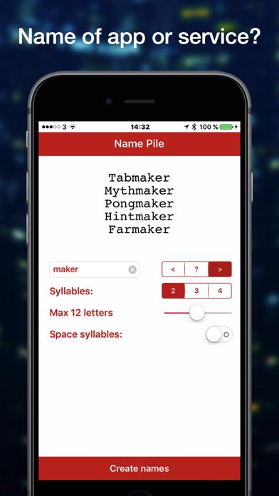 Name Pile Word Generator screenshot four