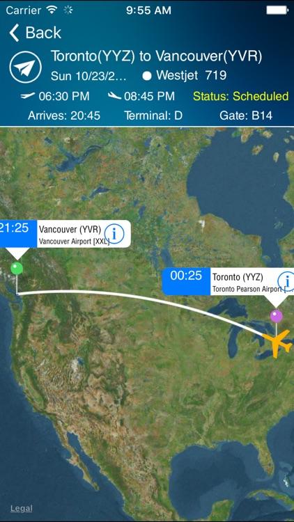 Vancouver Airport + Flight Tracker