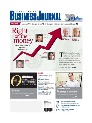 Screenshot of Baltimore Business Journal