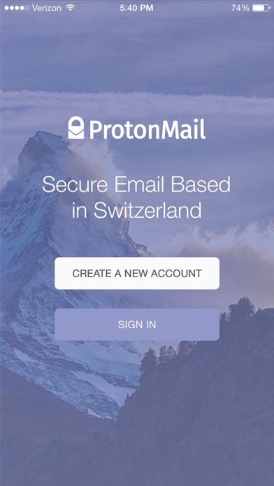 Screenshot 0 for ProtonMail's iPhone app'