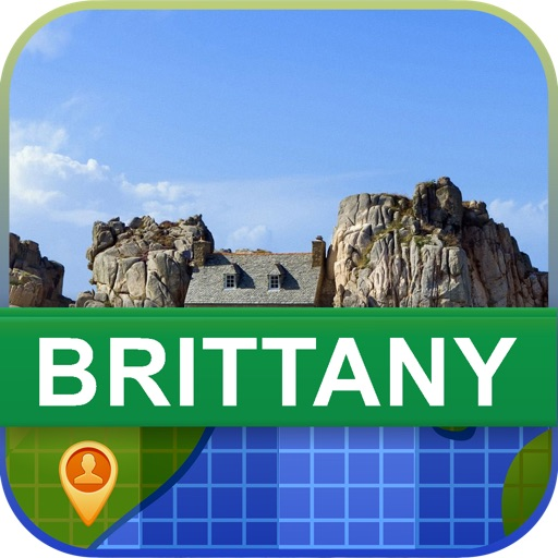 Offline Brittany, France Map - World Offline Maps
