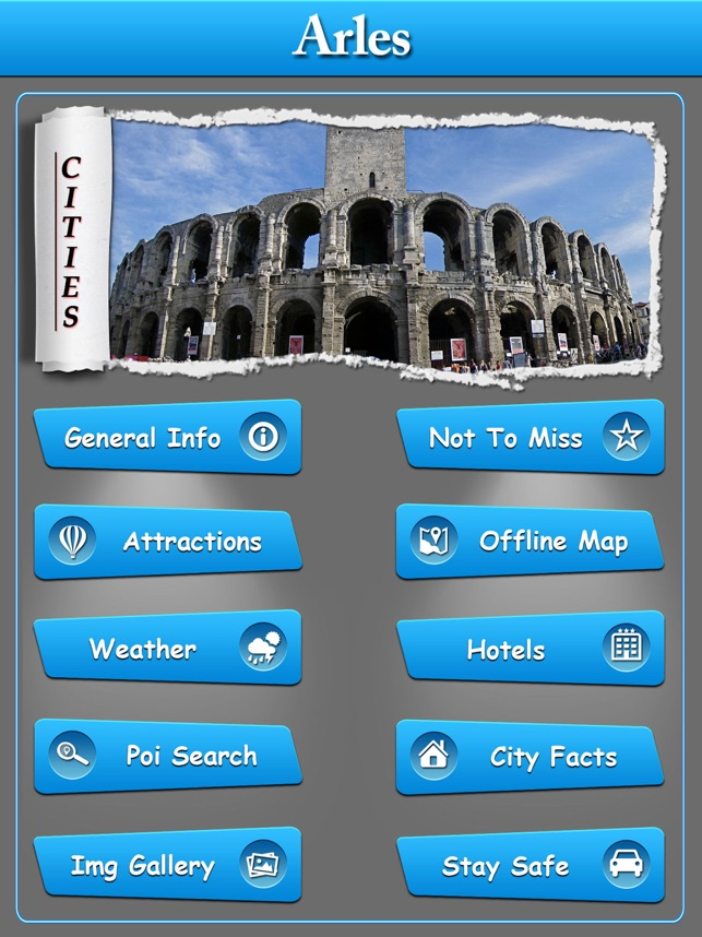 Arles Offline Map City Guide on
