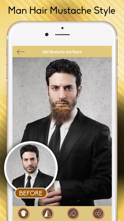 Man Hair Mustache and Beard Style screenshot-4
