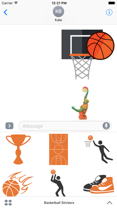 Basketball Stickers For iMessage