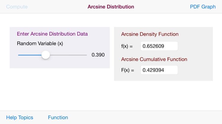 Arcsine Distribution screenshot-3