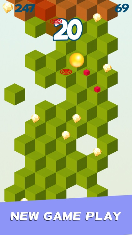 Cube Skip Ball Games screenshot-1
