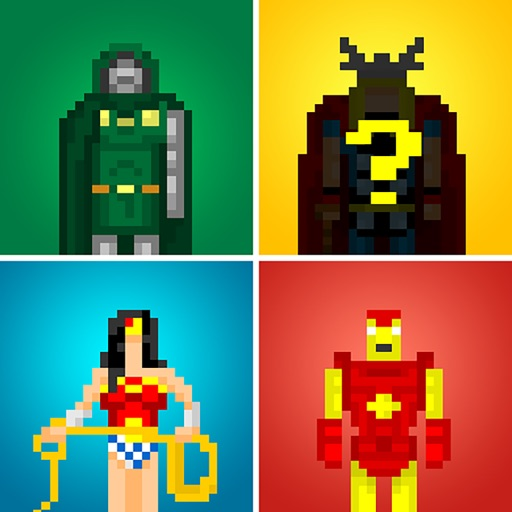 Guess the Pixel: Comics Super Heroes