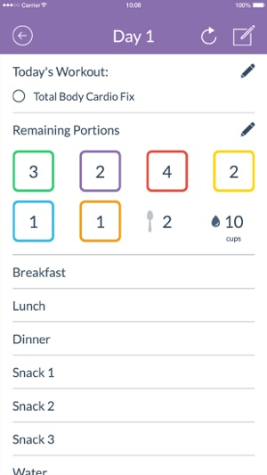 Calendario 21 Day Fix.21 Day Fix Tracker Official On The App Store