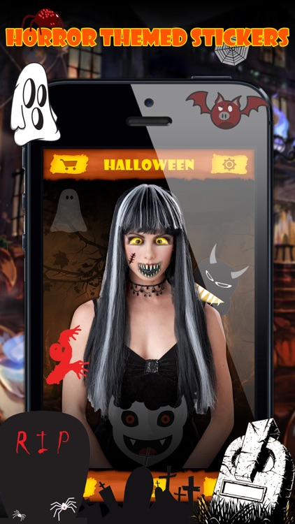 Halloween Emoji Stickers Pro - Face Photo Makeup screenshot-4