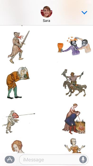 Mittelalterliche Reaktionen AufkleberScreenshot von 4
