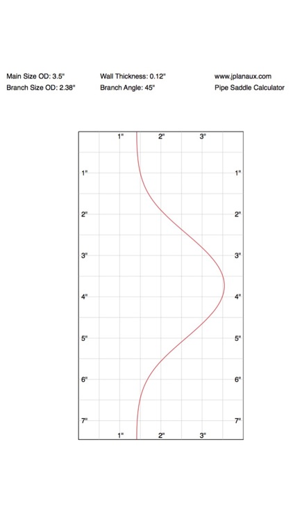 Pipe Saddle Layout Calculator: Cylinder Stanchion screenshot-4