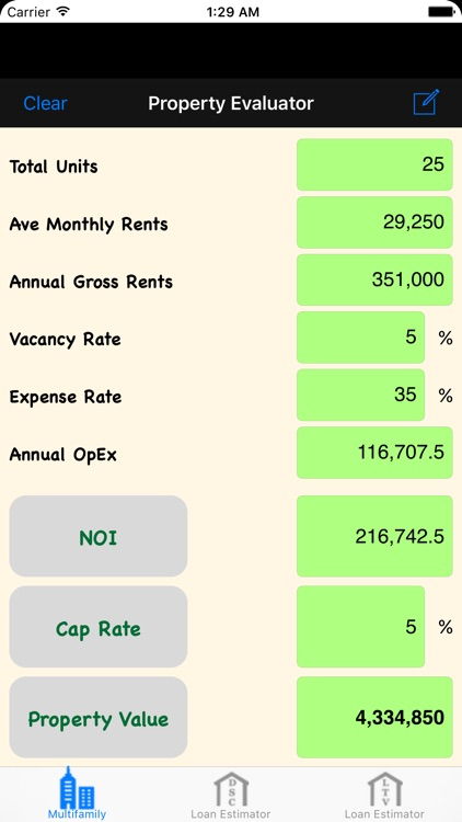 MRE: Multifamily Real Estate Calculator